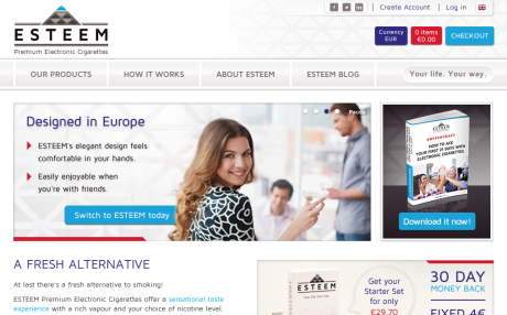 Screenshot of EsteemPremium.com home page