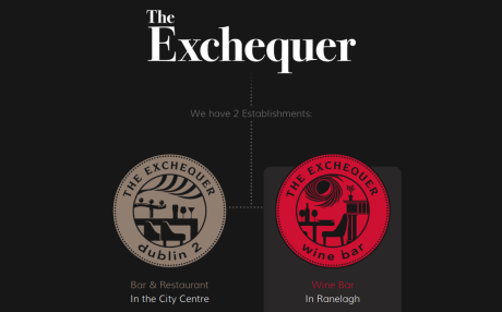 Screenshot of TheExchequer.ie landing page