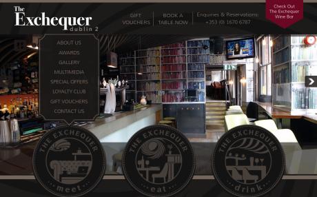 Screenshot of TheExchequerDublin2.ie home page