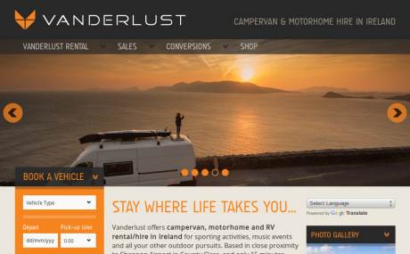 Screenshot of Vanderlust.com Reskin - home page
